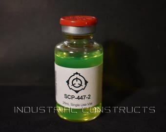 SCP-447-2 25mL Vial SCP Fan Created Prop