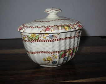 Vintage Copeland Spode Cowsill  S713 Covered Sugar Bowl