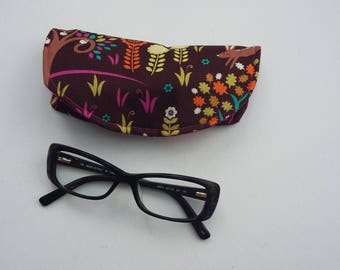 NEW Woodland Glasses Case, woodland animals small reading glasses case, Gift for her