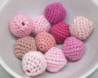 10 beads crocheted