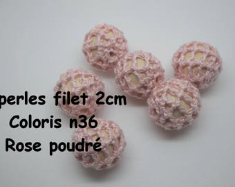 2 hole beads (2 cm) color 36 crochet cotton