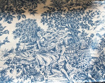 Coupon fabric upholstery canvas of Jouy 50 x 70 cm