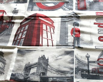 Fabric upholstery London 70 x 50 cm