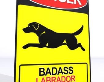 UniQ warning sign Labrador Retriever