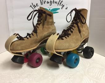 Roller Skates, Jogger, Sure Grip, Roller Derby, Roller Skating, Suede, Sweet, Size 8