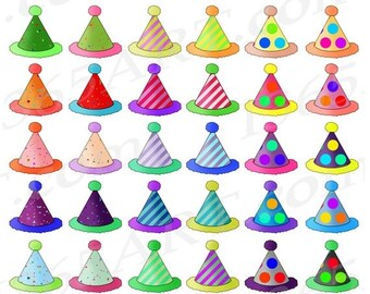 50% OFF Party Hats Clipart, Birthday Hats Clip Art, Birthday Party Hats, Cute Kids Parties, Celebration, Invitations, Planners, PNG