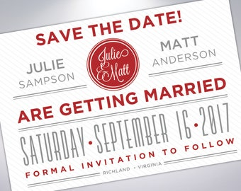 Save The Date Postcards | Custom Wedding Announcements  |  Engaged | Save The Date Card | Postcard Design | Custom Save The Date