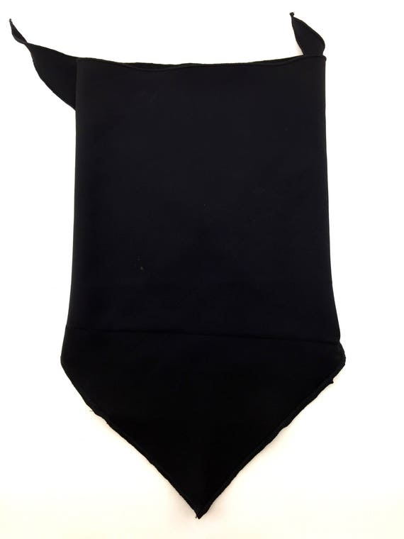 Black Is Black: Black Spandex PolyBlend Bandana w/ Hidden Stash Pocket