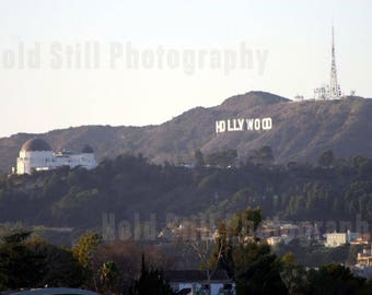 Hollywood Hills & Griffith Observatory - Canvas Print from Photograph