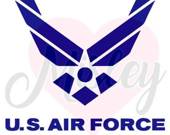 United States Air Force Emblem SVG, PNG, and STUDIO3 Cut Files for Silhouette Cameo/Portrait and Cricut Explore DIY Craft Cutters