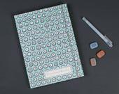 calendar 2018, calendario, turquoise weekly planer, agenda 2018, timer 2018, colorful calendar, fabric covered calendar, typewriter letters