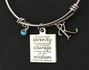 Serenity Prayer Bangle Serenity Prayer Bracelet