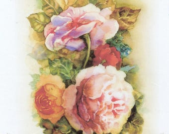 Italy Rice paper for Decoupage  Roses rice paper Italy decoupage paper