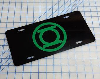 Green Lantern Custom License Plate