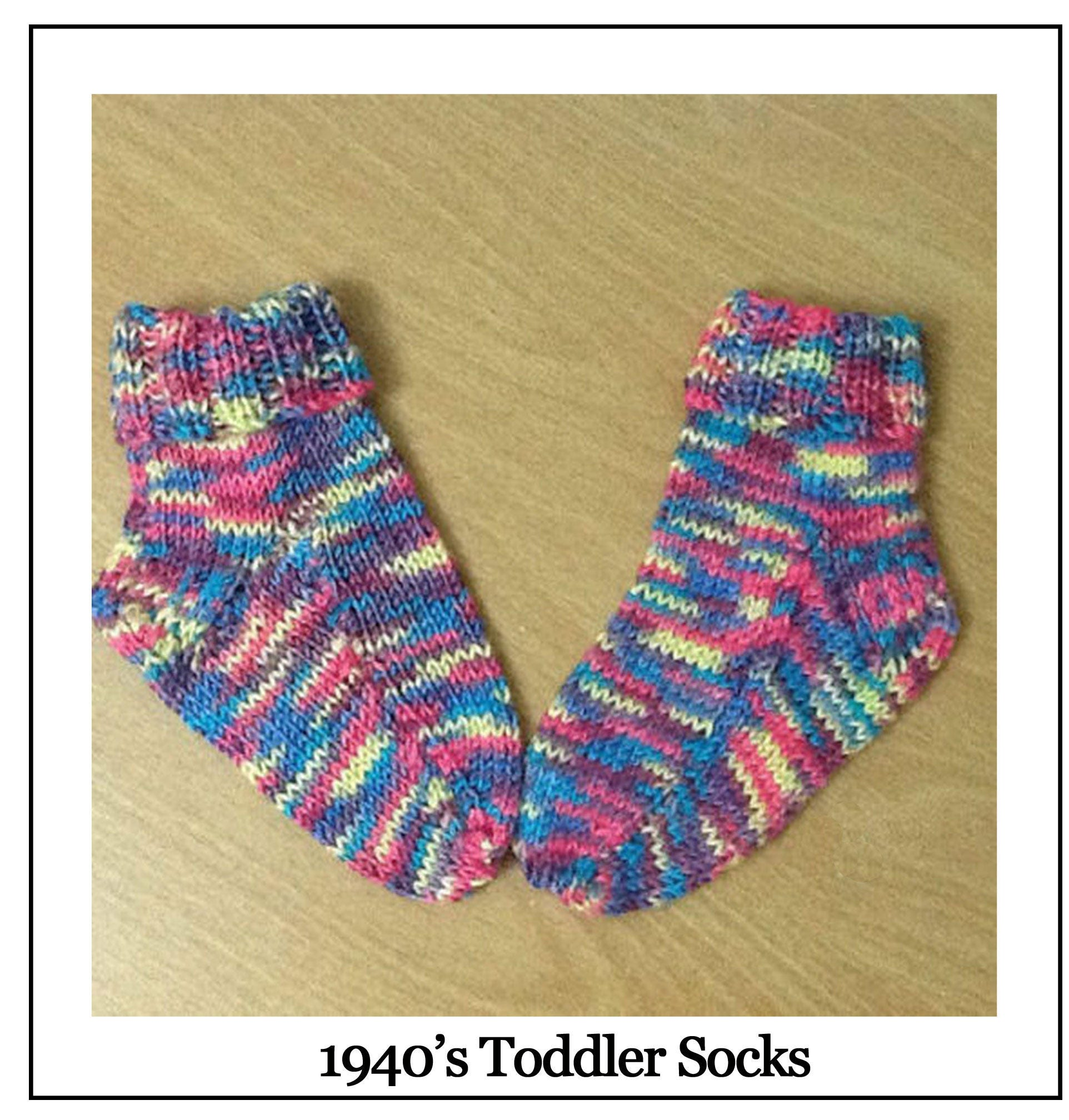 Toddlers socks 1940s vintage knitting pattern pdf knitting this is a digital file bankloansurffo Image collections
