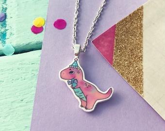 Dinosaur necklace, Dinosaur gift, Dino necklace, trex necklace,