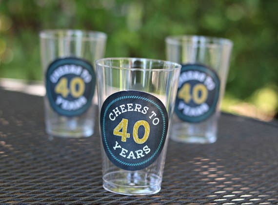 LADIES 40TH BIRTHDAY Decorations 40th Party Cups Plastic