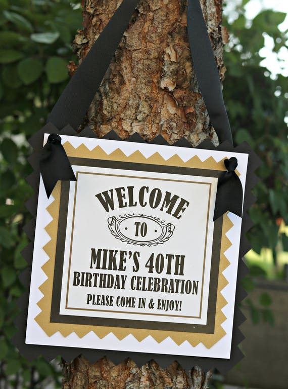 40TH BIRTHDAY PARTY Welcome Sign Door Sign 40th Party