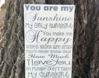 You Are My Sunshine Wall Decor you are my sunshine wall art wood | etsy