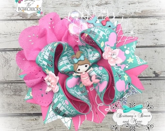 Mermaid Life Mini OTT Bow- Over the Top Hairbow ~ mermaid inspired hairbow ~