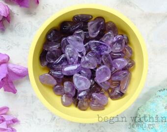 Tumbled Amethyst Crystal | Polished Amethyst Gemstone | Meditation Crystals