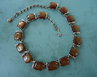 Brown Thermoset Necklace