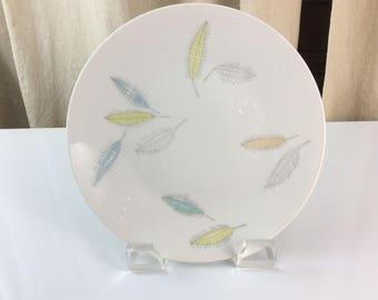Rosenthal Bunte Blatter/Colored Leaves Small Dinner Plates by Raymond Loewy, Form 2000; Set of 2