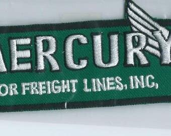 Mercury Motor Freight Lines Inc truck driver patch 2-5/8 X 6