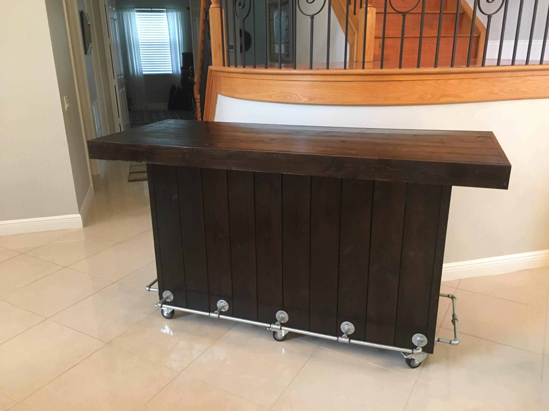 The espresso pallet bar 6 39 rustic indoor or outdoor for Indoor bar plans