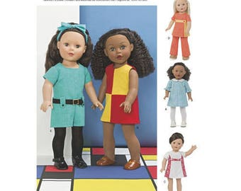 Simplicity 8314- Sewing pattern for 18 Inch Doll Clothes- Fits American Girl Dolls
