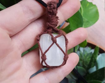Macrame Stone Necklace