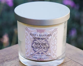 ADOBE Leather & Fig Soy Candle by Santa Barbara Aromatic | Organic | Toxin Free | Aromatherapy | Gift For Her | Gift For Women