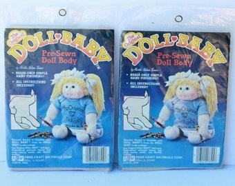 2 Fibre Craft The Original Doll Baby Pre-sewn doll body #3092 by Martha Nelson Thomas sealed Vintage
