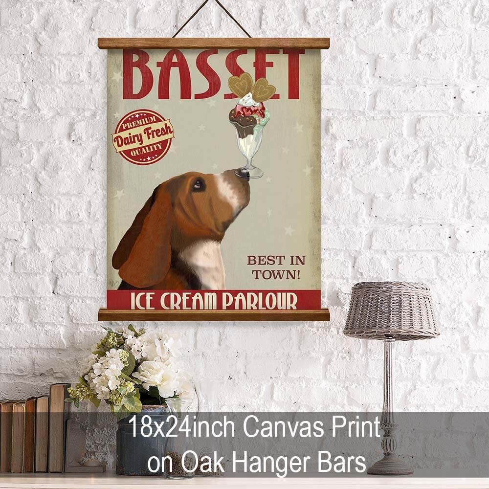 Kitchen Decor Basset Hound Ice Cream Dog  Kitchen Signs Kitchen Wall Decor  Kitchen Print