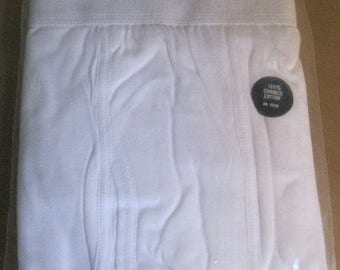 On Sale Vintage and NEW, Sears Roebucks Men's 100% Combed Cotton White Long Underwear, Size 32, Lightweight Warm Long Johns, New in Package