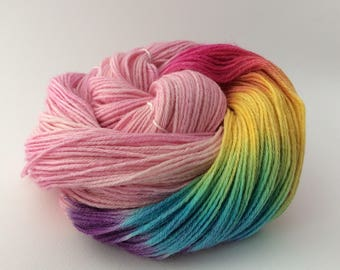 Rainbow Silk and Wool Yarn