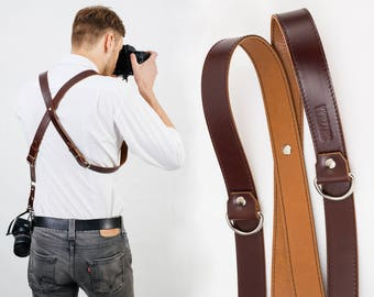 Dual Cameras Strap, Two Cameras Harness, Multi Cameras Strap, Photographer Harness, Cameras Harness, Cameras Straps, Photographer Straps