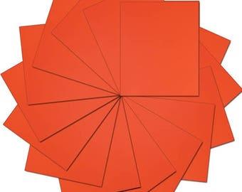 "Pre-cut Sheets Solid Color Heat Transfer Vinyl - Orange - 15 sheets -10""x12"""