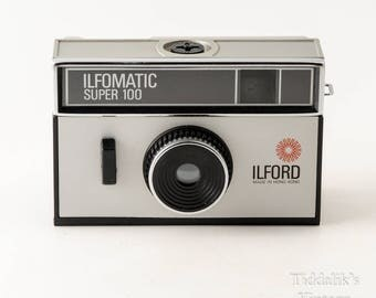 Ilford Ilfomatic Super 100 Instamatic 126 Film Cartridge Camera Boxed with Instructions - Working Shutter