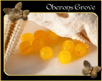 10 round beads 3mm Yellow