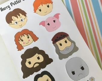 Handmade Harry Potter Character Art Sticker Pack/Journal Stickers