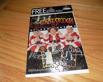 The Three Stooges Hallmark Puzzle Puzzles Vintage Jigsaw Puzzles Day Care Childrens Toy Dolls 2 sided Larry Moe Curly