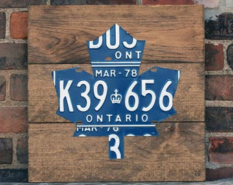 Toronto Maple Leafs License Plate Art