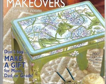 Crafts 'n Things Magazine May 2004 - stained glass, mosaic, beaded jewelry, cross stitch, memory box and more