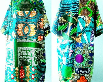 African dress African Tunic African clothing Colorful dress African print dress Carla boho tunic African print tunic women's Ankara dress