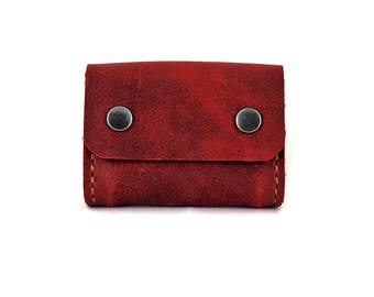 Handmade Leather Card Case, Business Card Case, Business Card Pouch, Card Carrier