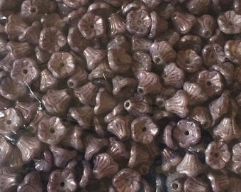 50 St. funnel blossom 5 x 8 mm Alabaster purple Vega