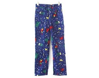 Vintage 80s boys pants constellation star corduroy Lee