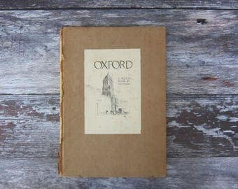 Oxford book of drawings,Oxford drawings,Oxford illustration, vintage Oxford, antique, book, books,oxford gift,vintage drawings,drawing