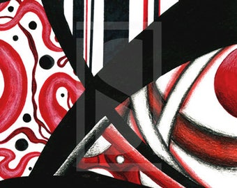 Red, Black, and White IV